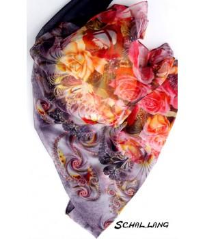 Schal Blumenmotiv