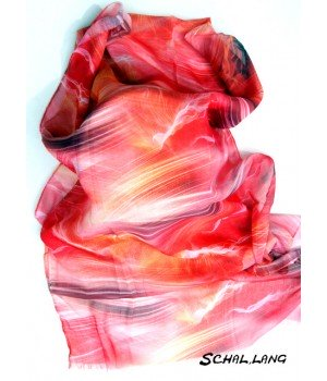 Die aktuelle Farbe. Feder-Motiv Farben, Schal lang