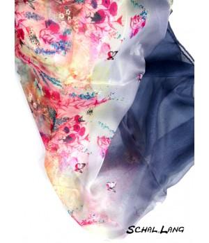 Schal rosa grau schwarz