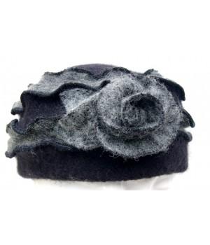 Mütze creme - schwarz