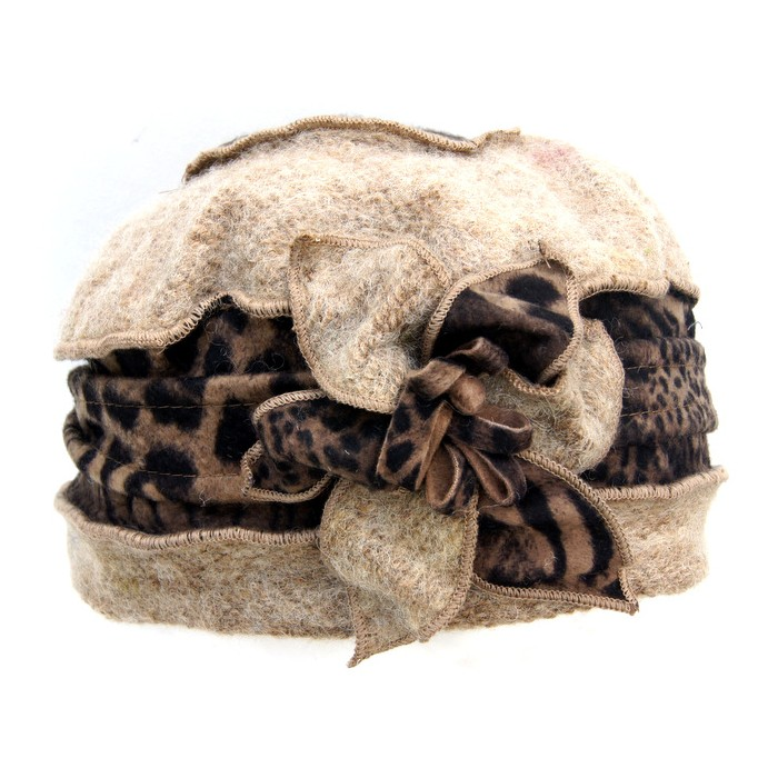 Mütze creme-braun