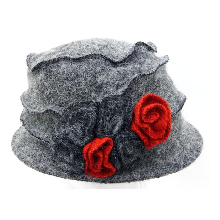 Hut grau groß