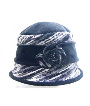 Hut weiß-schwarz
