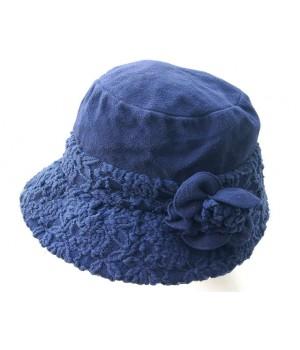 Hut, blau