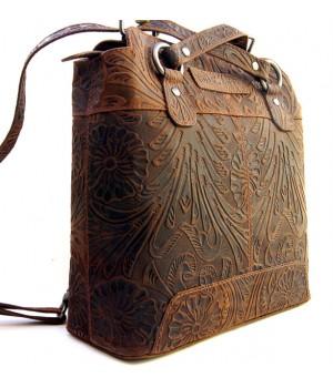 Voll-Leder Rucksack oder...