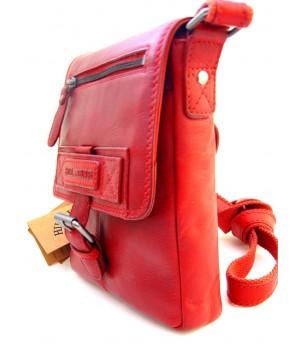 Handtasche rotes Leder.