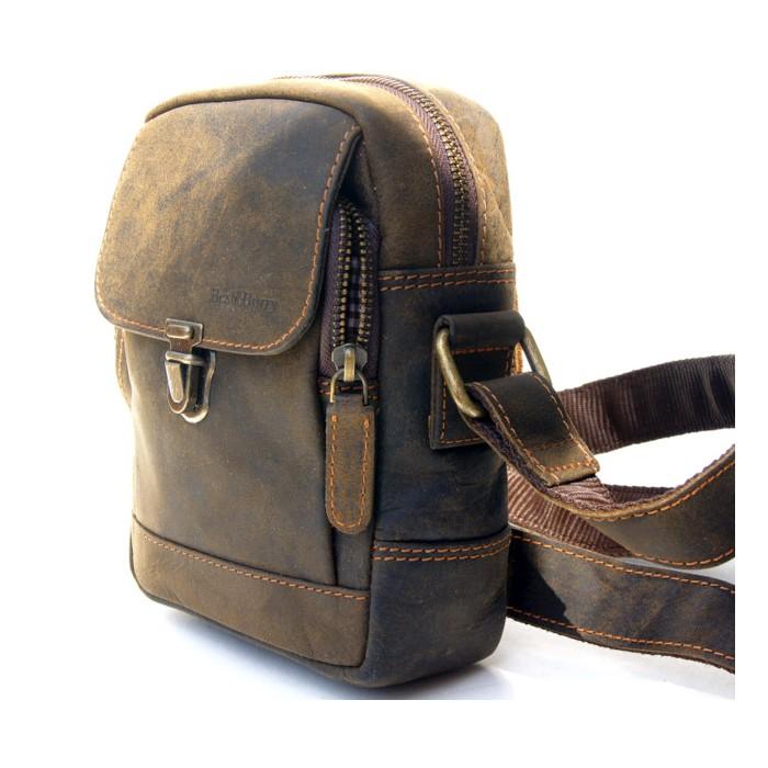 Voll-Leder, Schulter Tasche für Herrn Vintage Look