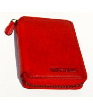 rote Softweiche Geldbörse.