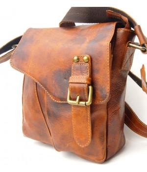 Vintage Look Herren Schulter Tasche