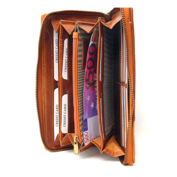 Geflochten, schwarz braunes Portemonnaie