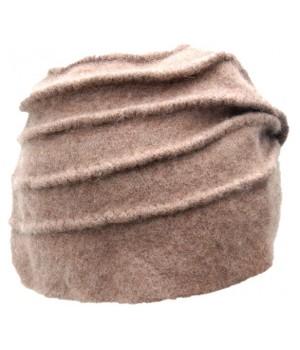 Moderne Mütze beige-braun,...