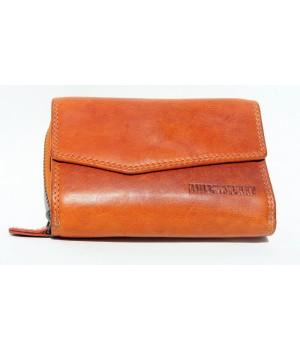 Portemonnaie orange durchgefärbt Echt Leder