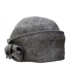 Hellgraue feine Damen Mütze...