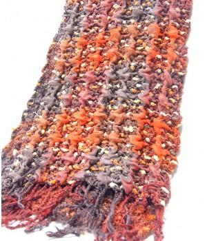 Stretch Schal flauschig weich, warm, orange.