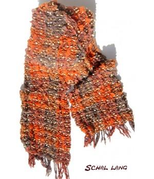 Stretch Schal flauschig weich, warm, orange