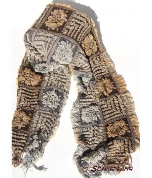 Stretch Schal flauschig weich, creme, braun