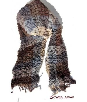 Stretch Schal flauschig weich, warm, grau, braun, creme