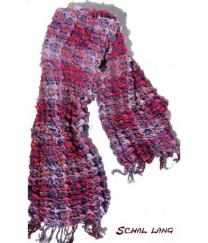 Stretch Schal flauschig weich, warm, Brombeere