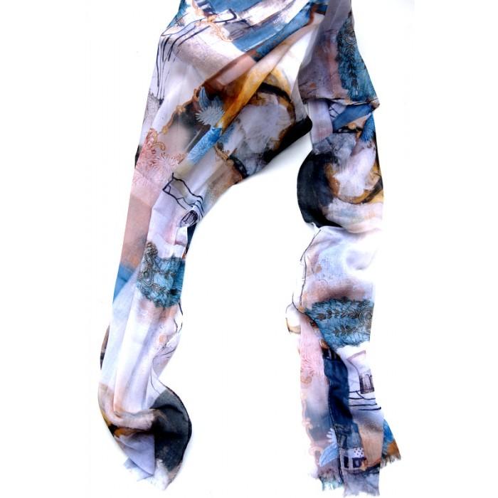 Fantastische Farben, Schal lang, grau-rose