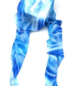 Fantastische Farben, Schal lang, blaue Pastell Töne