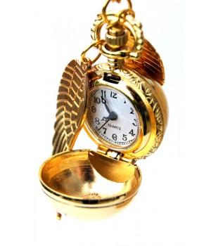 Halskette Kugel mit Flügel Gold und Silber Faben