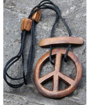 Halskette Hipp Hopp geschnitztes Peace