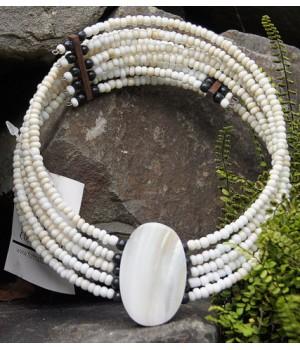 Hals Reif , weißen Perlen,...