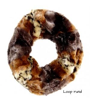 Loop  flauschig weich, Leoparden Lock