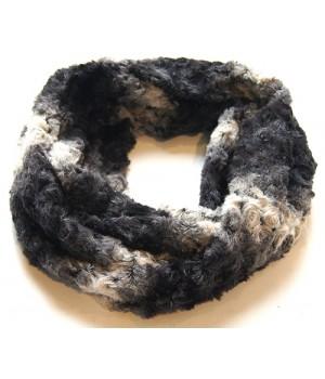 Loop Schal flauschig weich, grau, schwarz