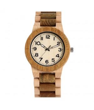 Zwei farbige Holz Uhr gut...