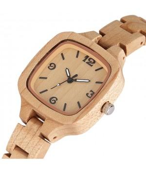 Holz Uhr für Damen Bambus