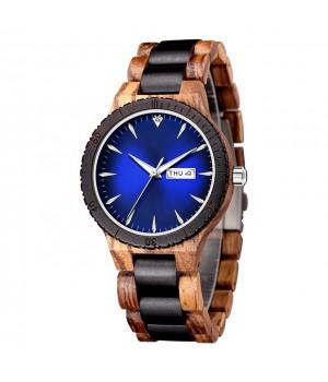 Blaue Holz Uhr, gut zu lesen