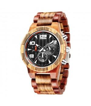 Zebrano Holz Uhr Formaflori