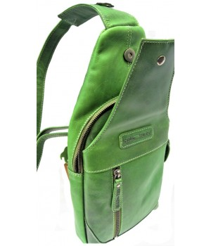 Vollleder Rücken oder Vor-Bauch Tasche. Cross Bag