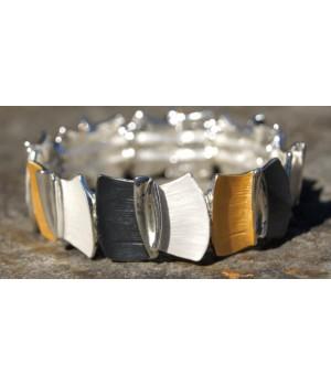 Armband Damen  Flexibel silber-gold