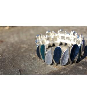 Damen Armband blau -Silber,...