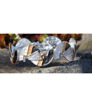 Armband  silber  gold