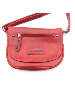 Rote Tasche aus Leder
