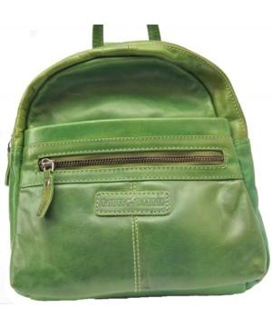 Leder Rucksack, grün